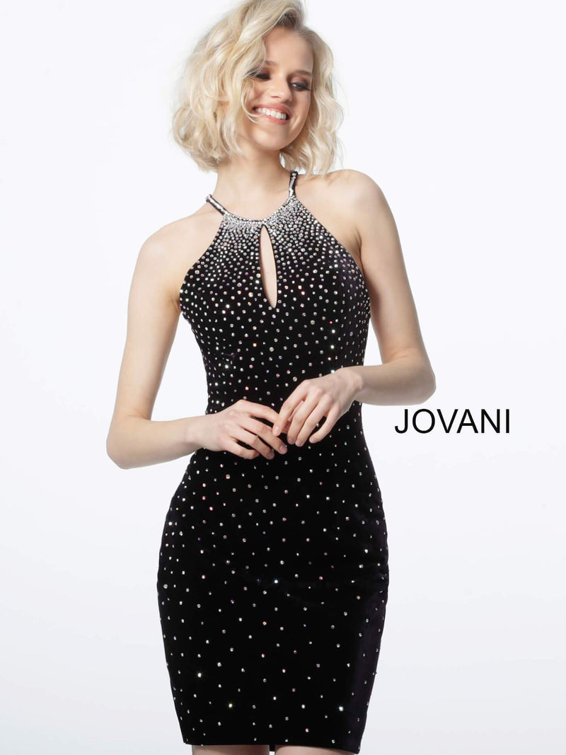 JOVANI 65313 Key Hole Neck Fitted Dress - CYC Boutique