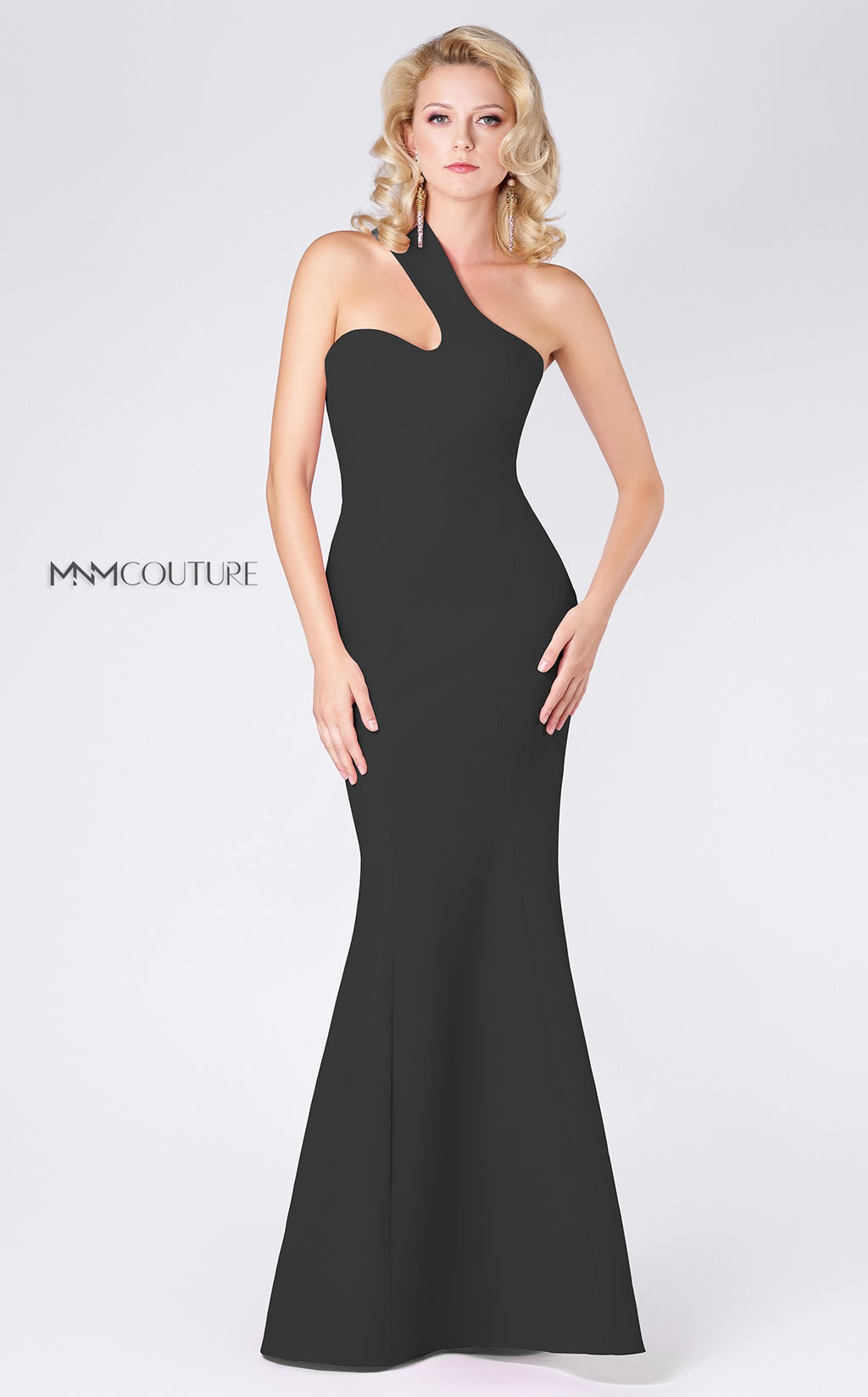 MNM Couture M0003 Asymmetric One Shoulder Evening Dress