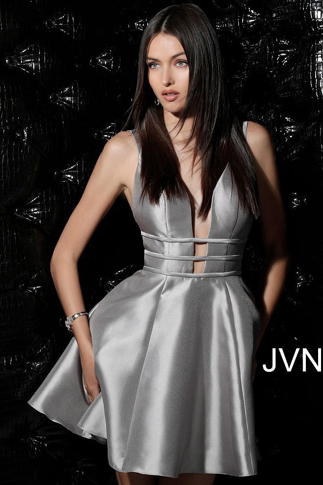 JOVANI JVN62950 Open Back Fit and Flare Dress - CYC Boutique