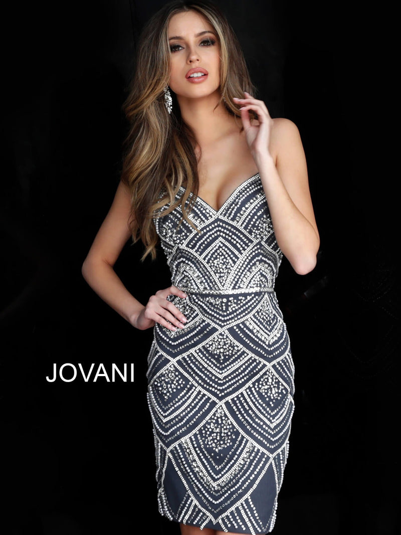 JOVANI 64598 Beaded Cocktail Dress - CYC Boutique