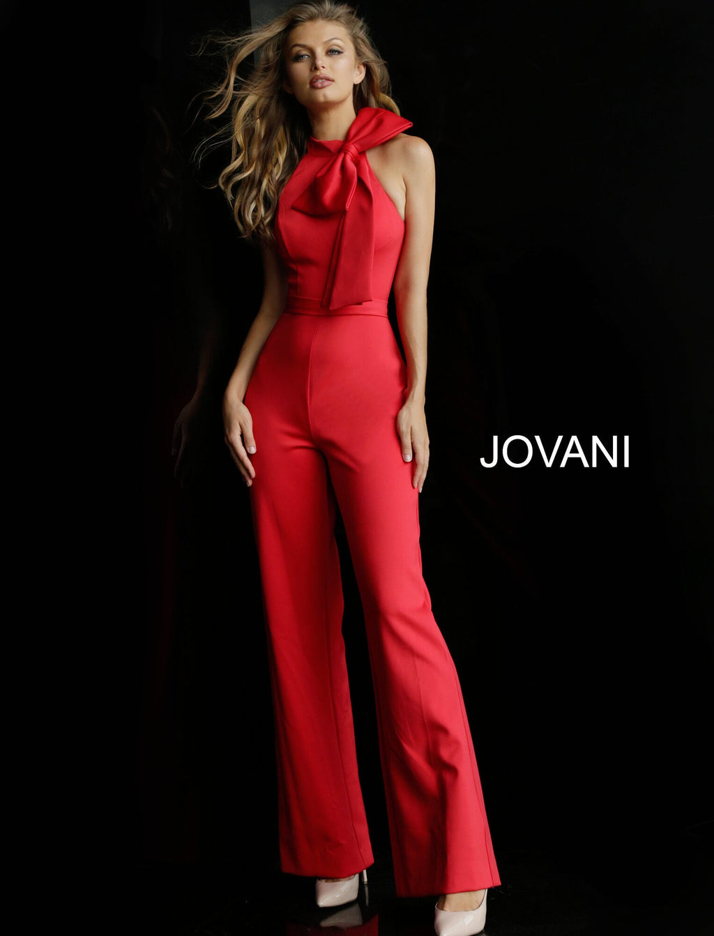 Jovani 63523 High Neck Jumpsuit