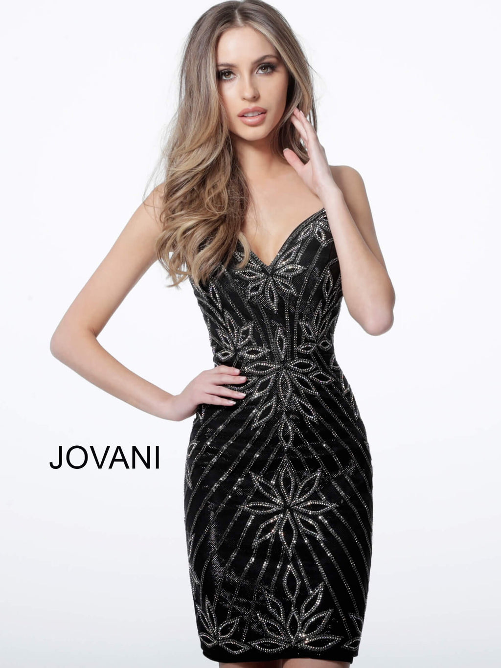 JOVANI 4391 Embellished Cocktail Dress - CYC Boutique