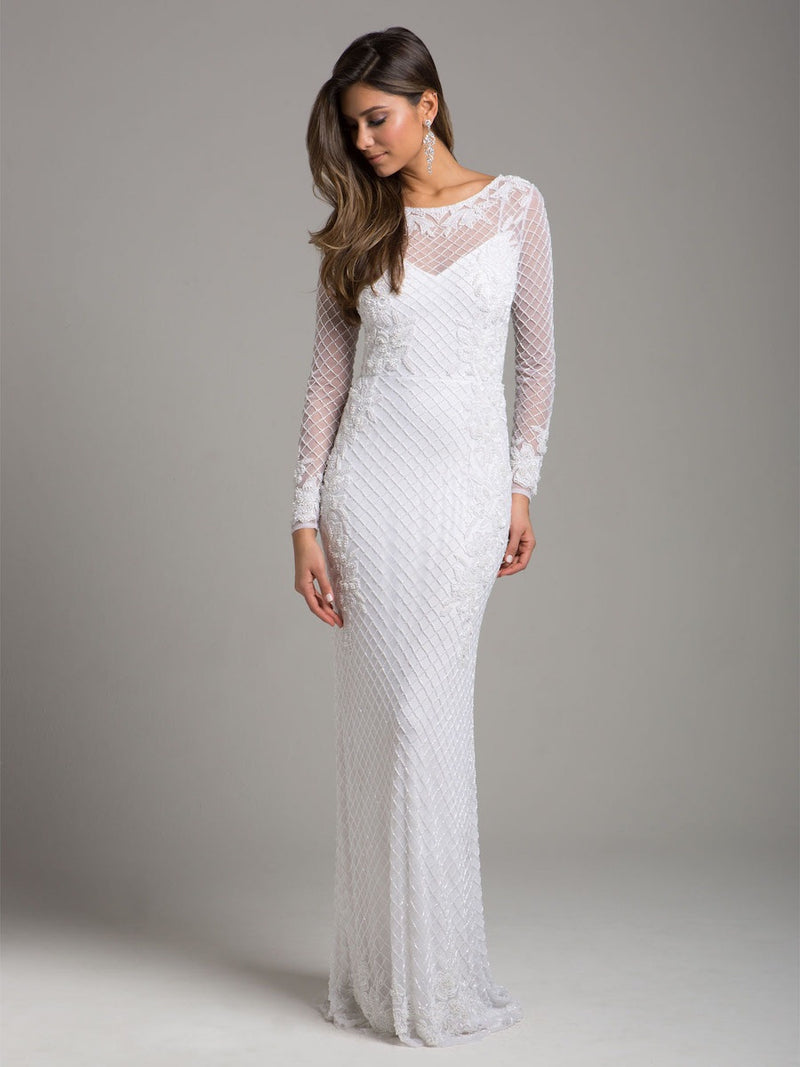Lara 51004 Long Sleeve Wedding Dress - CYC Boutique