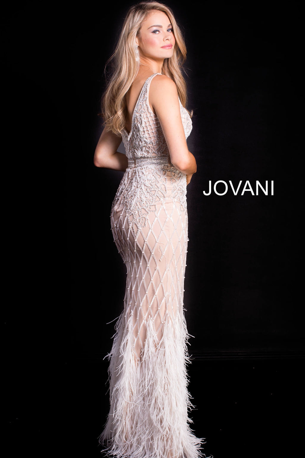 JOVANI 55796 Embellished Evening Dress - CYC Boutique