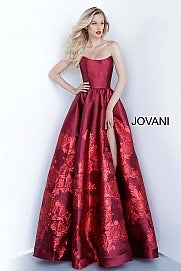 JOVANI 02038 Strapless Formal Evening Dress