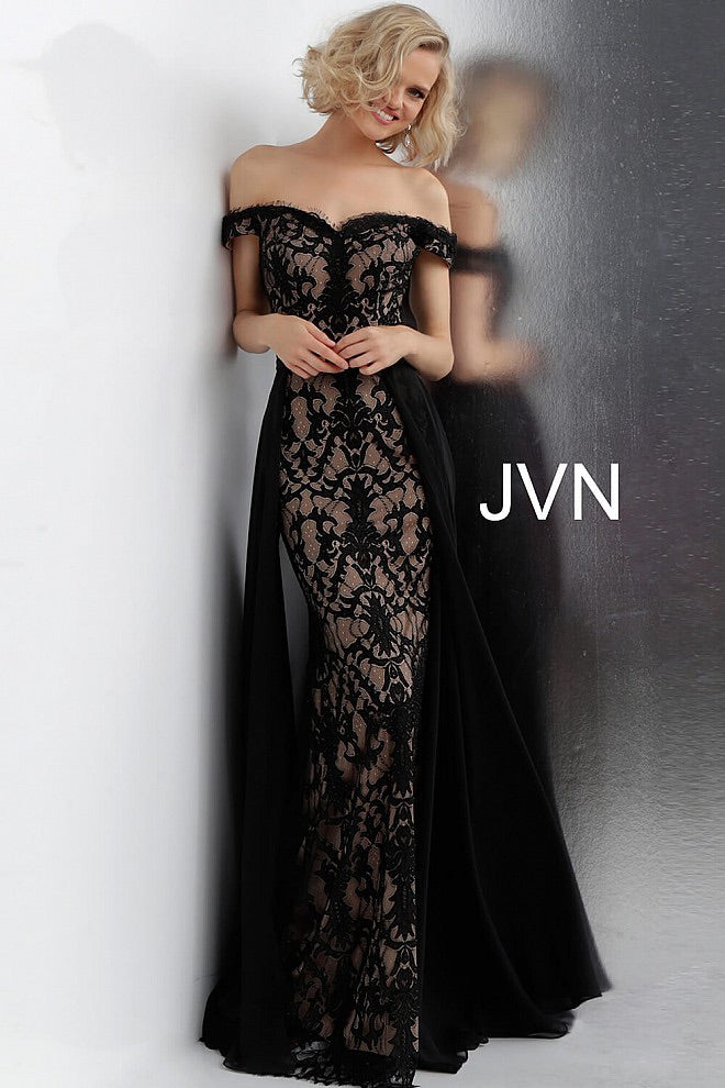 JOVANI JVN62489 Off Shoulder Lace Evening Dress - CYC Boutique