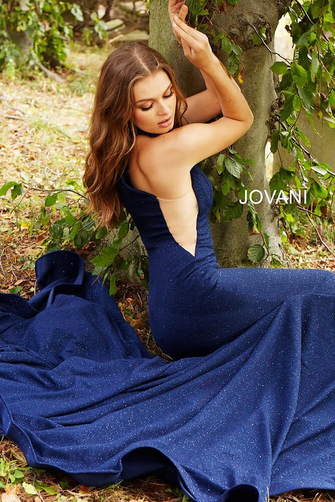 JOVANI 55185 High Neck Mermaid Evening Dress