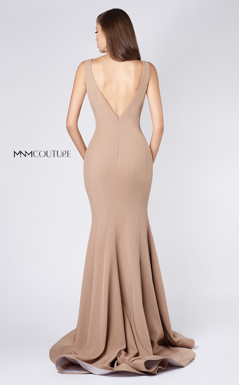 MNM Couture M008 Illusion Neck Trumpet Evening Gown - CYC Boutique