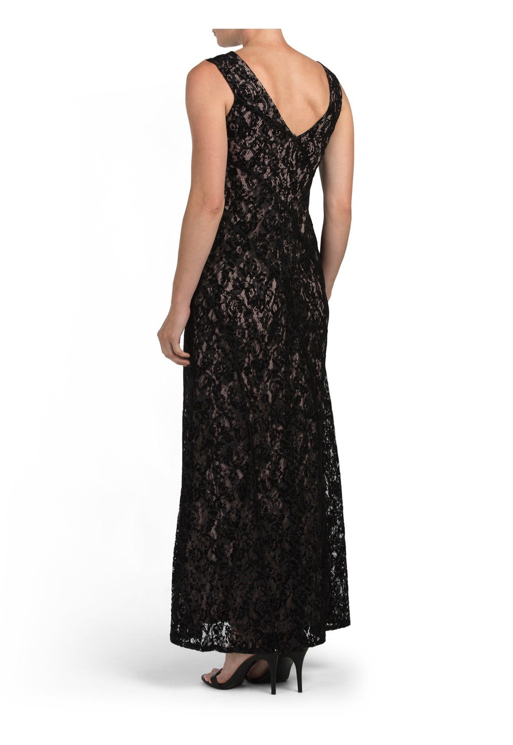 Lace Sleeveless Evening Dress - CYC Boutique