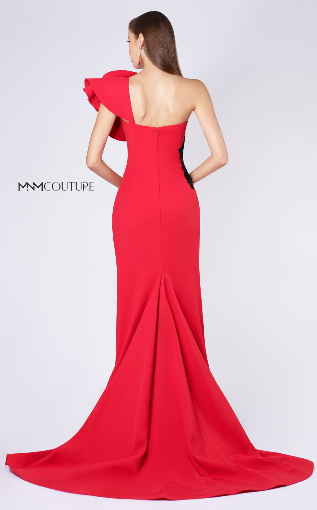 MNM Couture M0042 One Shoulder Evening Dress