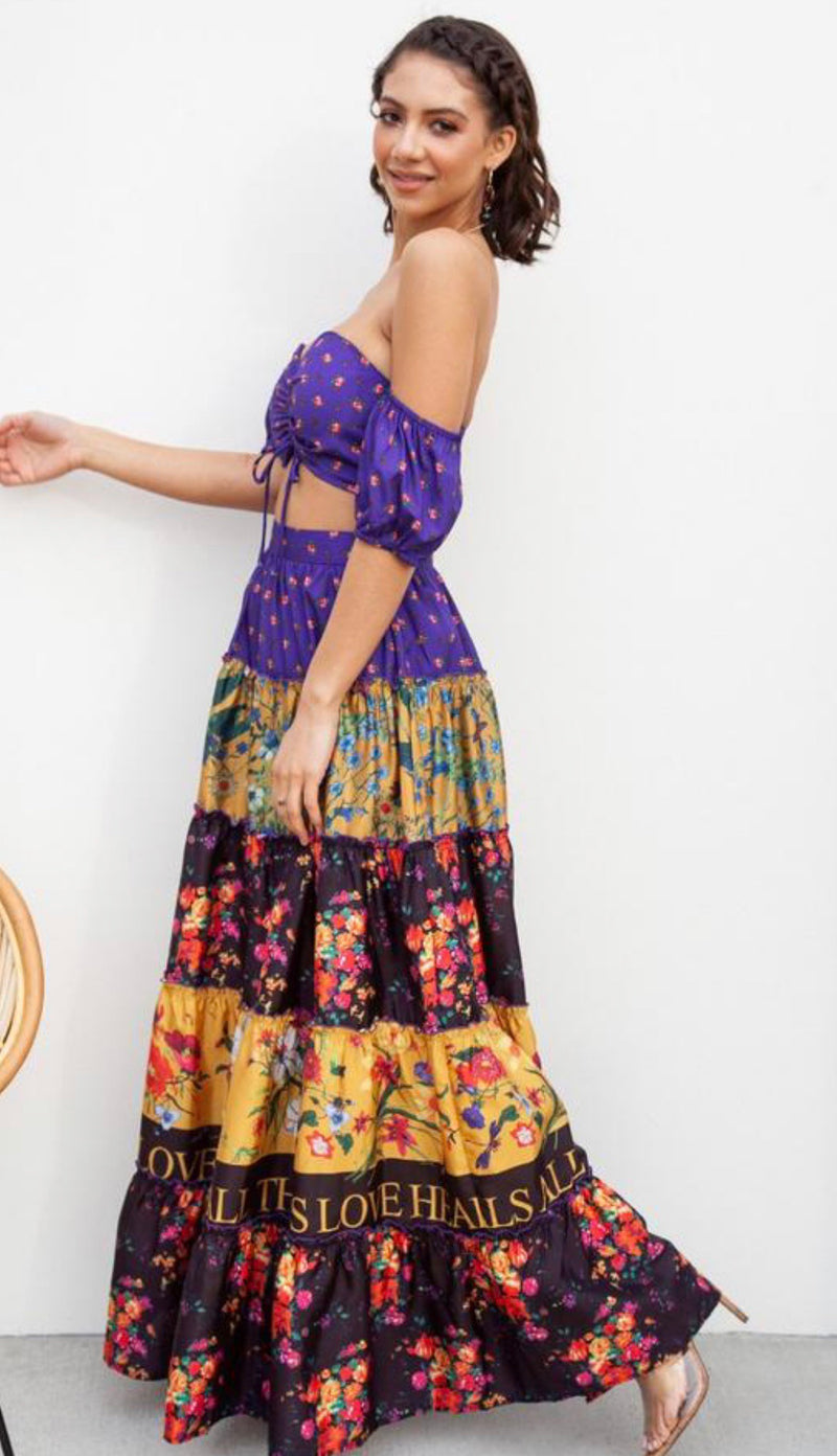 Printed Two Piece Maxi Skirt Set - CYC Boutique