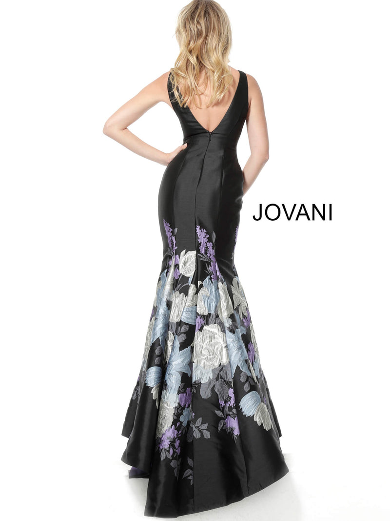 JOVANI 64289 Print Mermaid Evening Gown - CYC Boutique