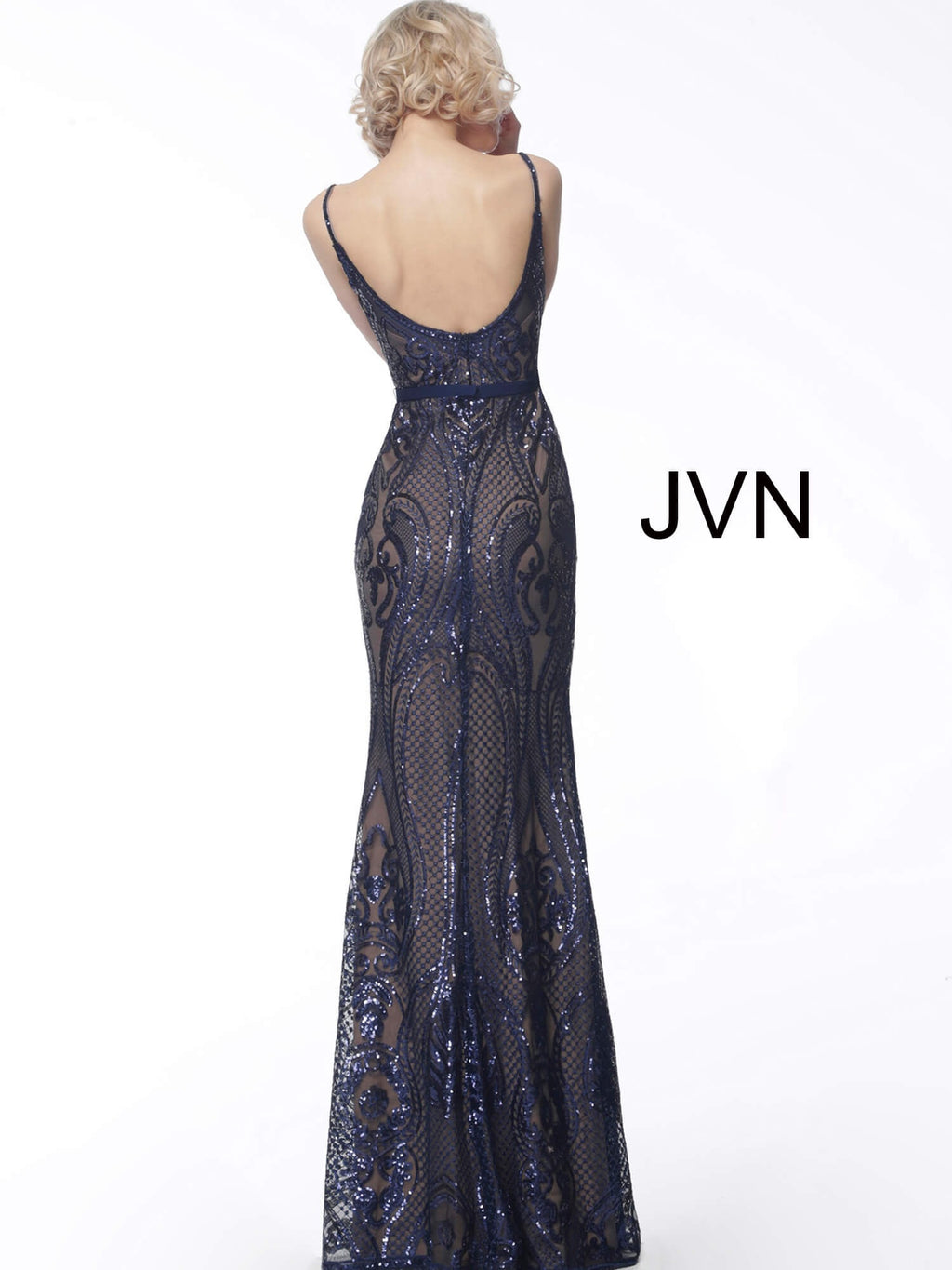 JOVANI JVN66960 V-Neck Evening Dress