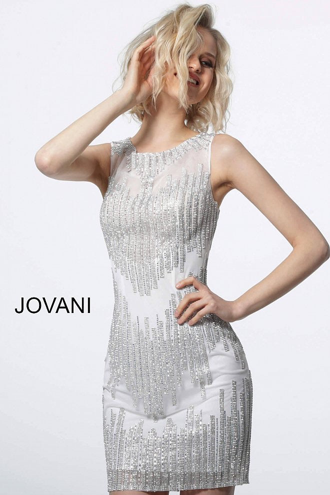 JOVANI 2275 Fitted Embellished Cocktail Dress