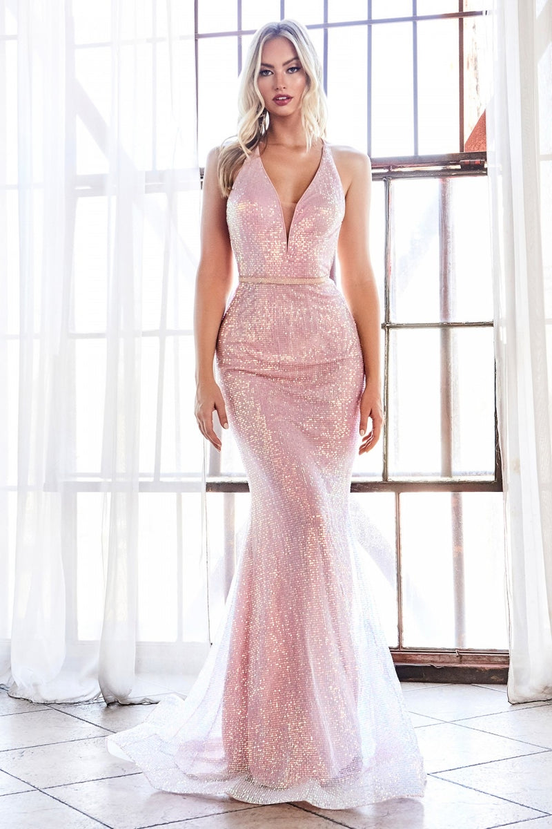 Cinderella Divine CW948 Fitted Evening Dress