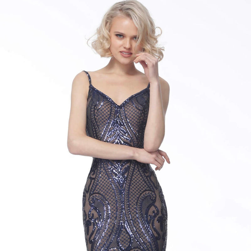 JOVANI JVN66960 V-Neck Evening Dress - CYC Boutique
