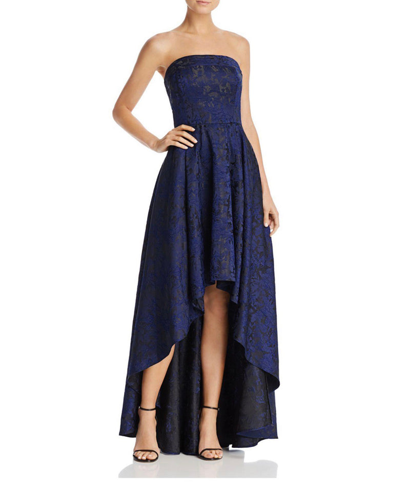 Laundry by Shelli Segal Pleated Band Strapless Hi-Lo Gown - CYC Boutique