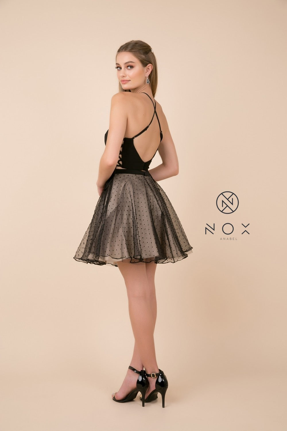 Nox Anabel M659 Two-Piece Polka Dot Dress