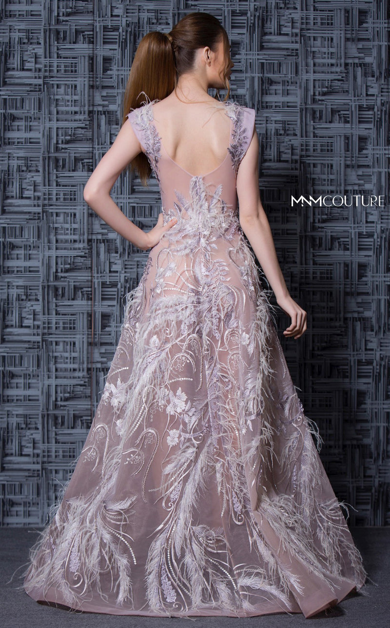 MNM Couture K3615 Embellished A-Line Evening Dress - CYC Boutique