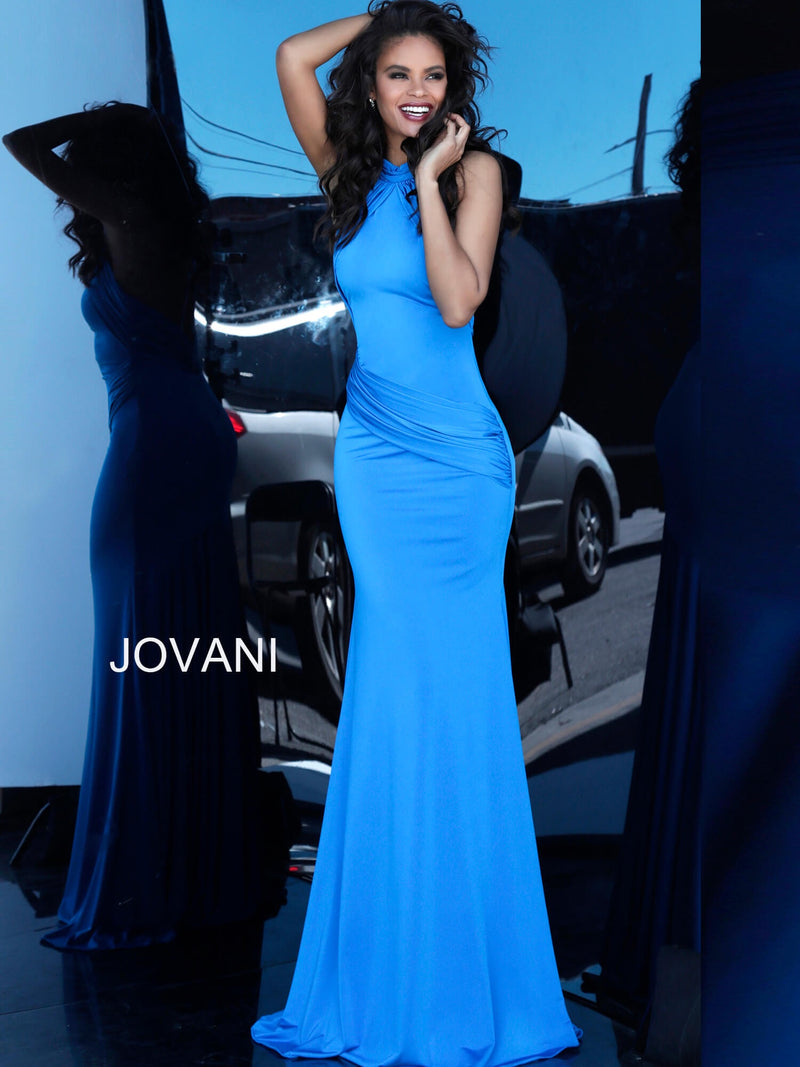 JOVANI 68711 High Neck Backless Evening Dress - CYC Boutique