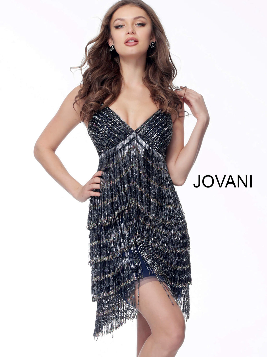 JOVANI 65362 Beaded Cocktail Dress - CYC Boutique