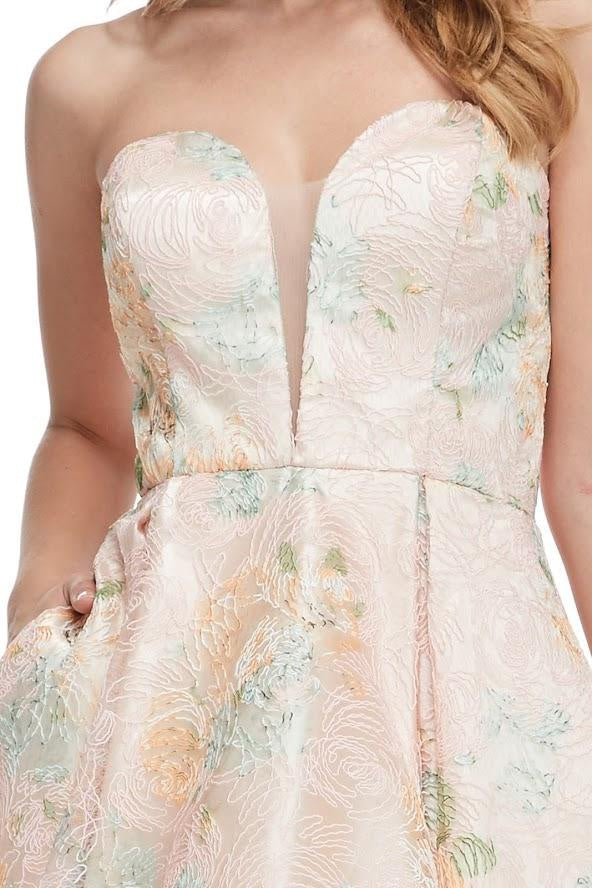 Strapless Sweetheart Neckline Cocktail Dress - CYC Boutique