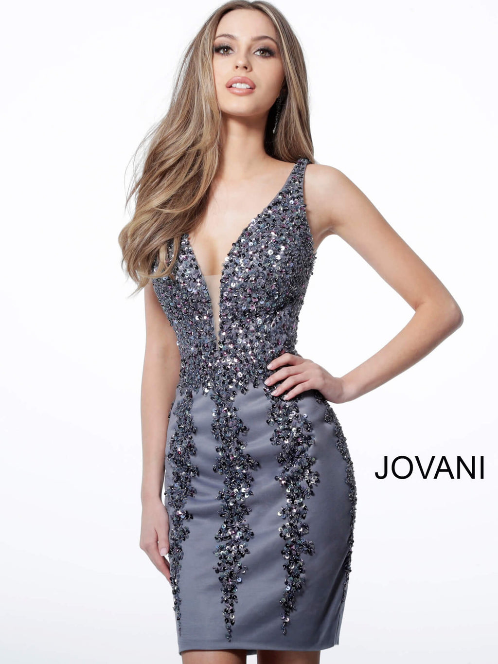 JOVANI 2530 Embellished Sleeveless Cocktail Dress