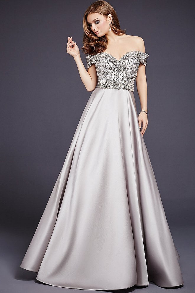 JOVANI 32779 Stone Off the Shoulder Ballgown - CYC Boutique
