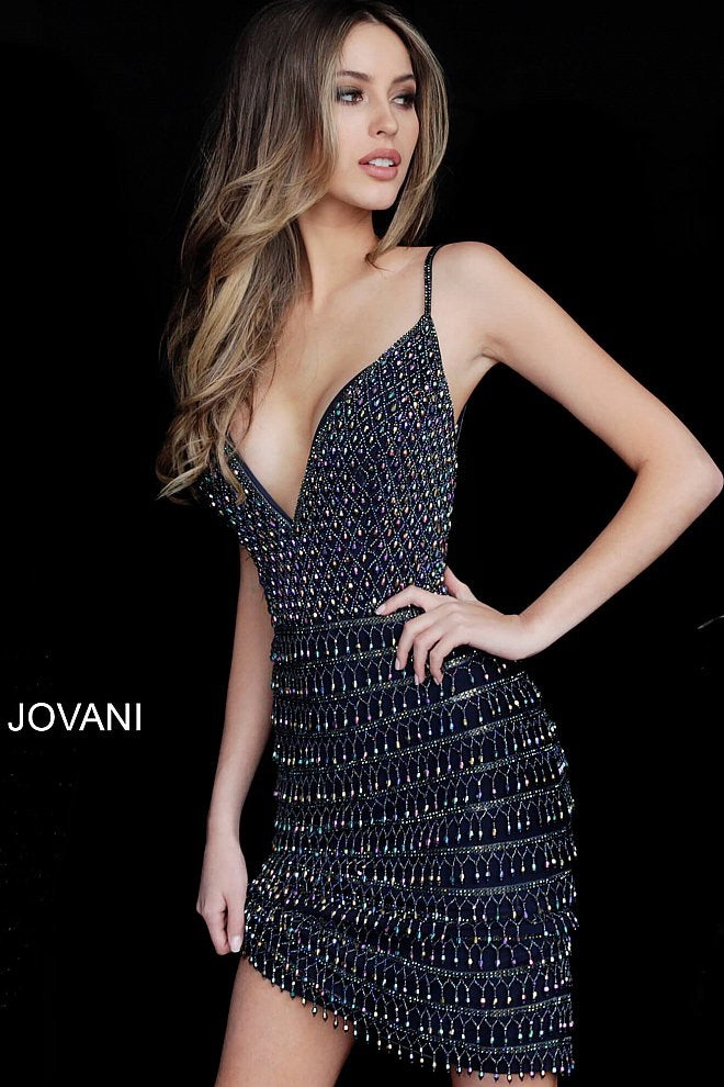 JOVANI 2261 Beaded Cocktail Dress - CYC Boutique