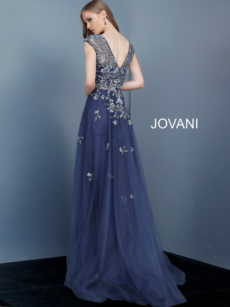 JOVANI 62819  Embellished Bodice Evening Dress - CYC Boutique