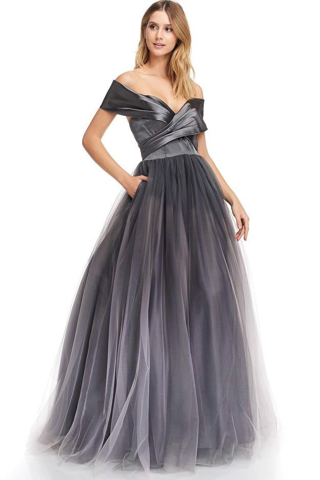 Off Shoulder Tulle Ballgown - CYC Boutique