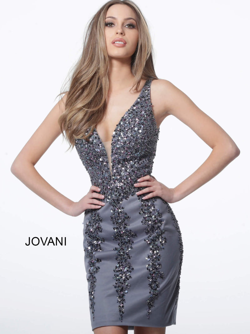 JOVANI 2530 Embellished Sleeveless Cocktail Dress - CYC Boutique