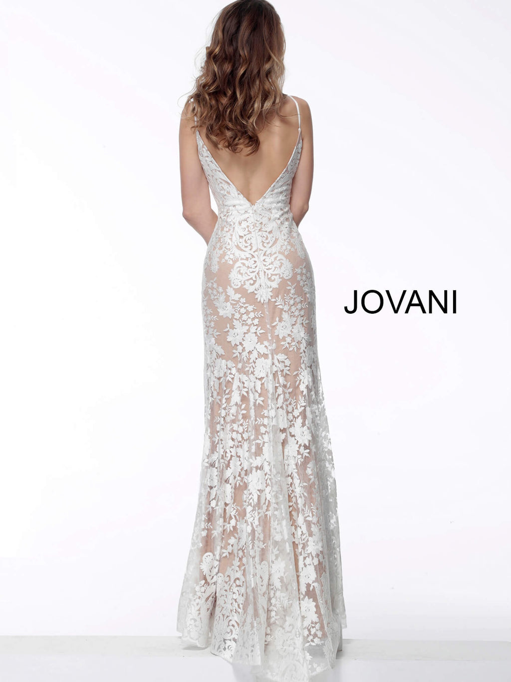 JOVANI 63754 Lace Evening Dress - CYC Boutique