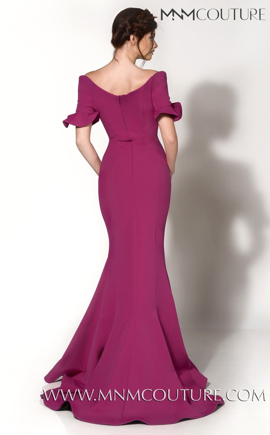 MNM Couture 2144A Off-Shoulder Evening Dress