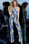 JOVANI 1194 Multi Color Sequin Evening Jumpsuit - CYC Boutique