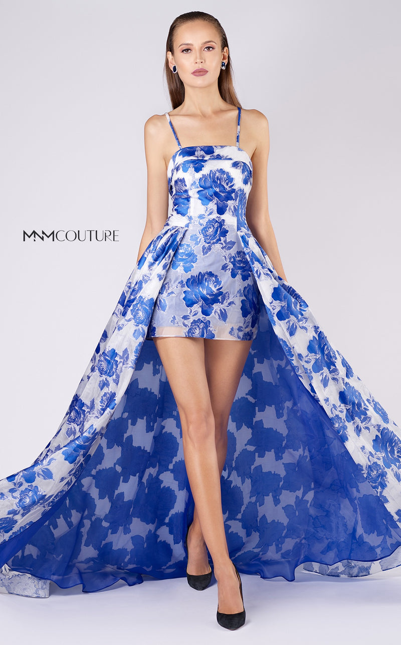 MNM Couture M0041  Floral High Low Dress - CYC Boutique