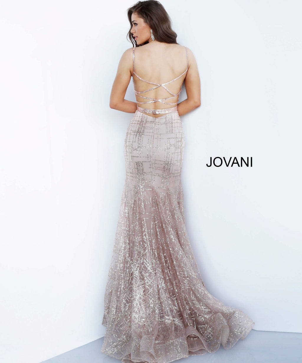 JOVANI 2388 Plunging Neck Evening Dress - CYC Boutique