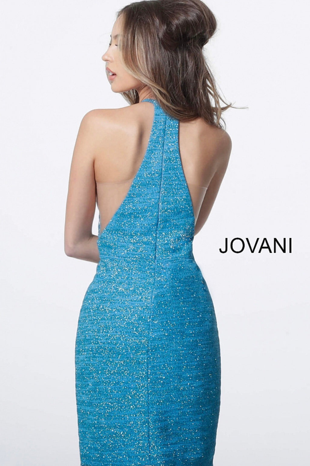 JOVANI 1202 Glitter Cocktail Dress - CYC Boutique