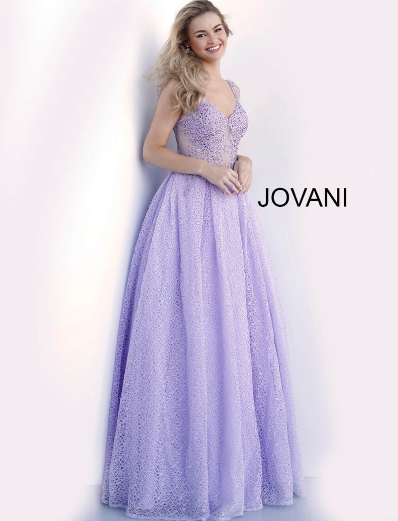 JVN64105 Embroidered A-Line Evening Dress - CYC Boutique