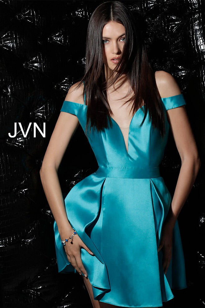 JOVANI JVN62317 Off the Shoulder Fit and Flare Dress - CYC Boutique