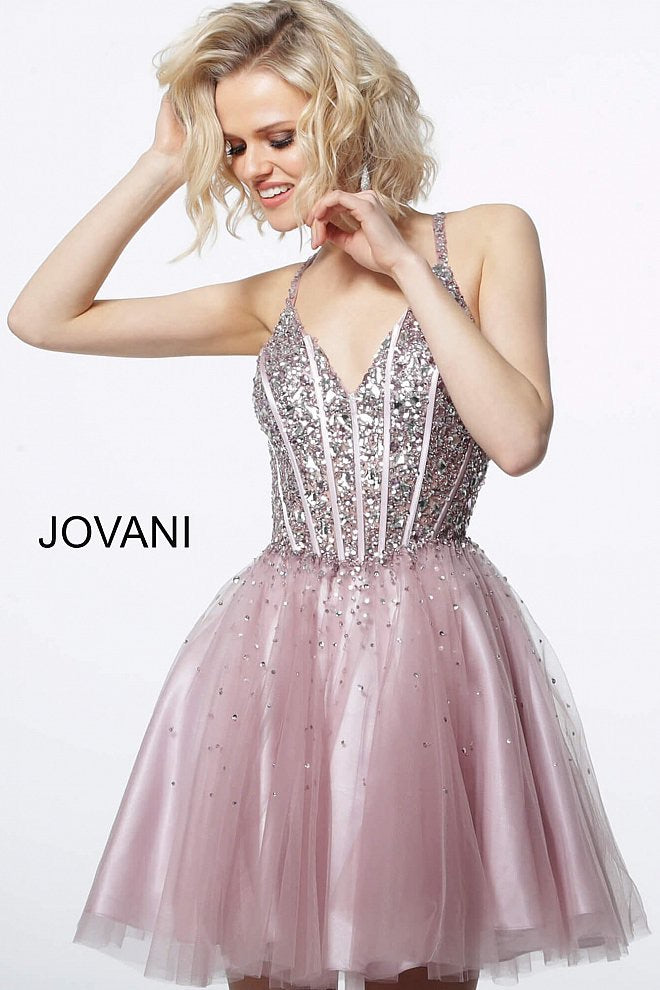 JOVANI 3627 Embellished Fit and Flare Dress - CYC Boutique