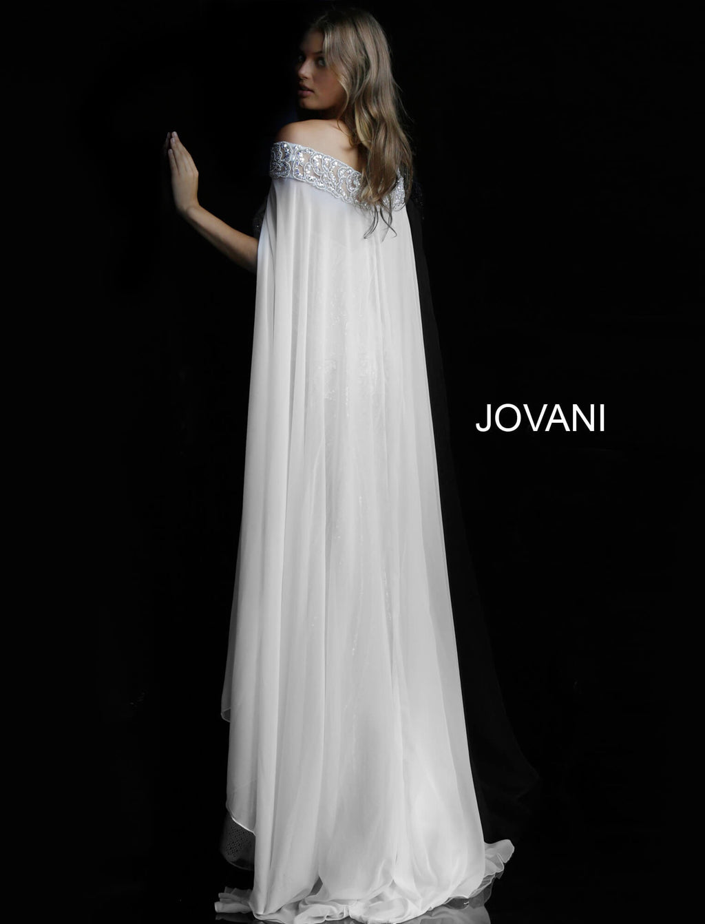 JOVANI 45566 Off Shoulder Evening Dress