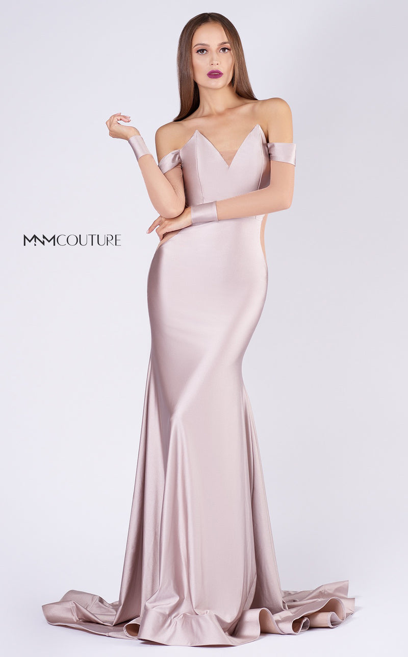 MNM Couture L0044 V-Neck Mermaid Evening Gown - CYC Boutique