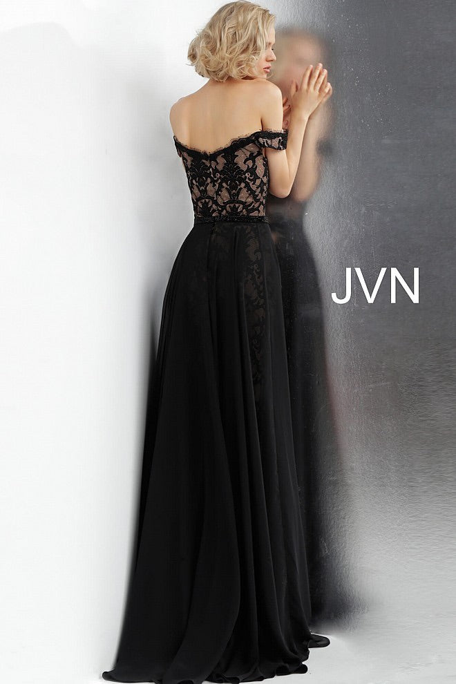 JOVANI JVN62489 Off Shoulder Lace Evening Dress