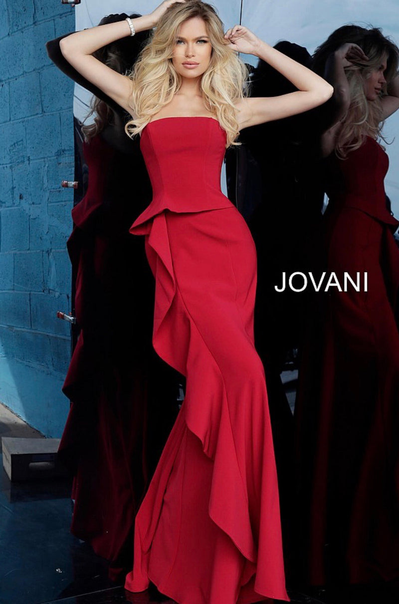 JOVANI 68766 Strapless Evening Dress - CYC Boutique