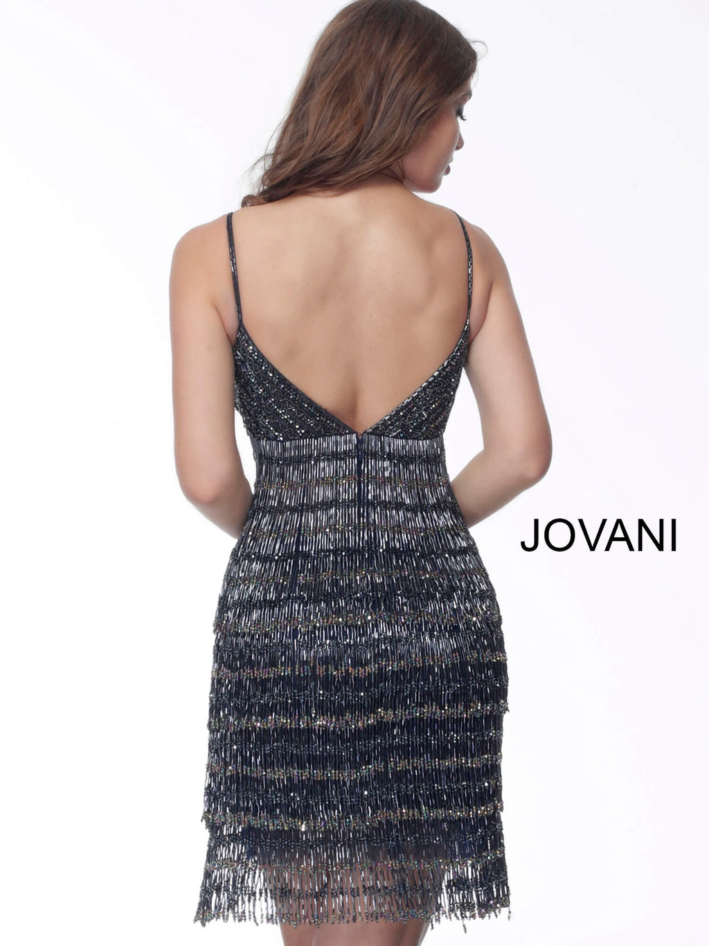 JOVANI 65362 Beaded Cocktail Dress