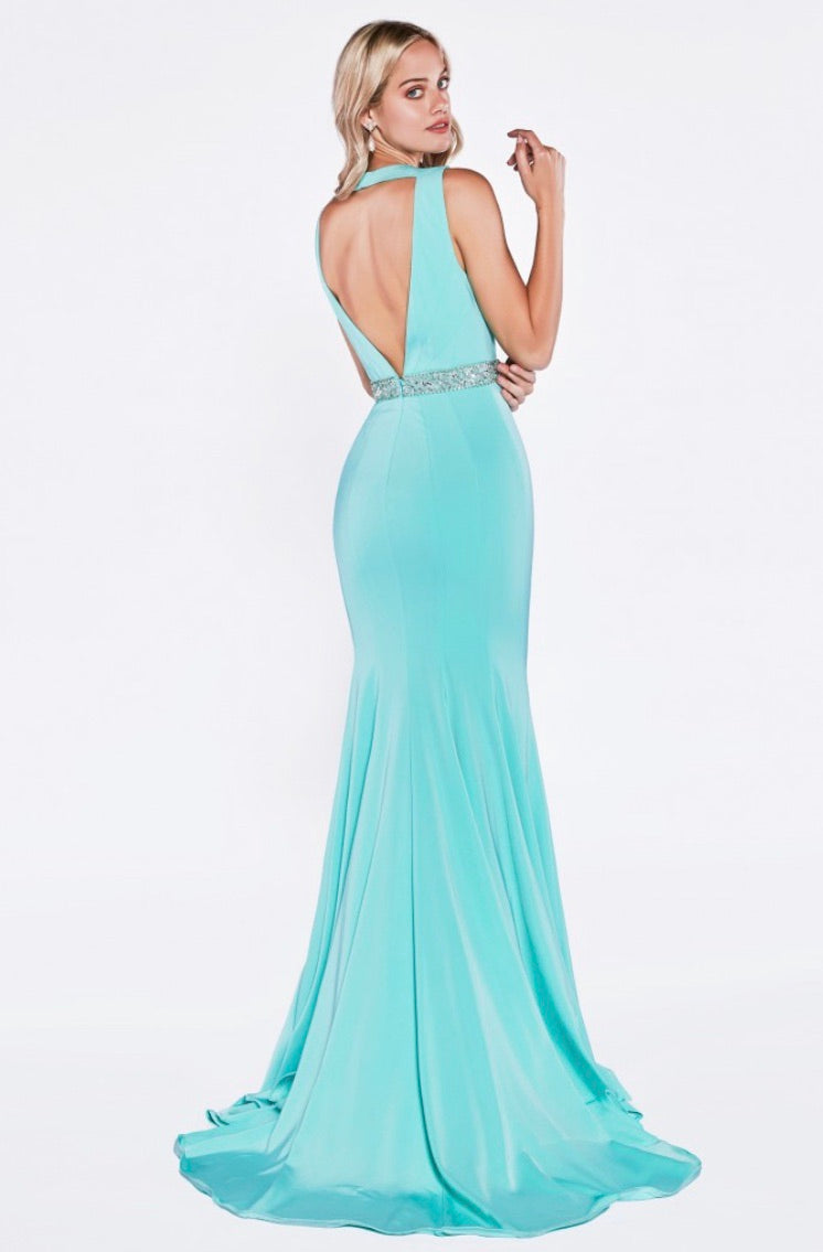 Cinderella Divine P107 Fitted Mermaid Evening Dress - CYC Boutique