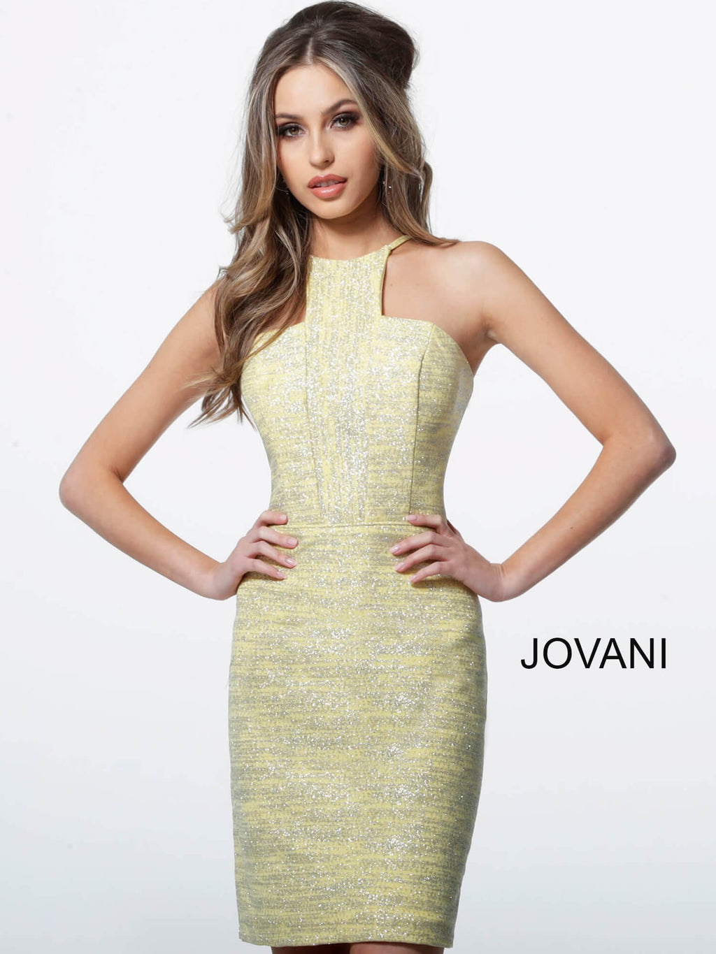 JOVANI 1558 Glitter Cocktail Dress - CYC Boutique