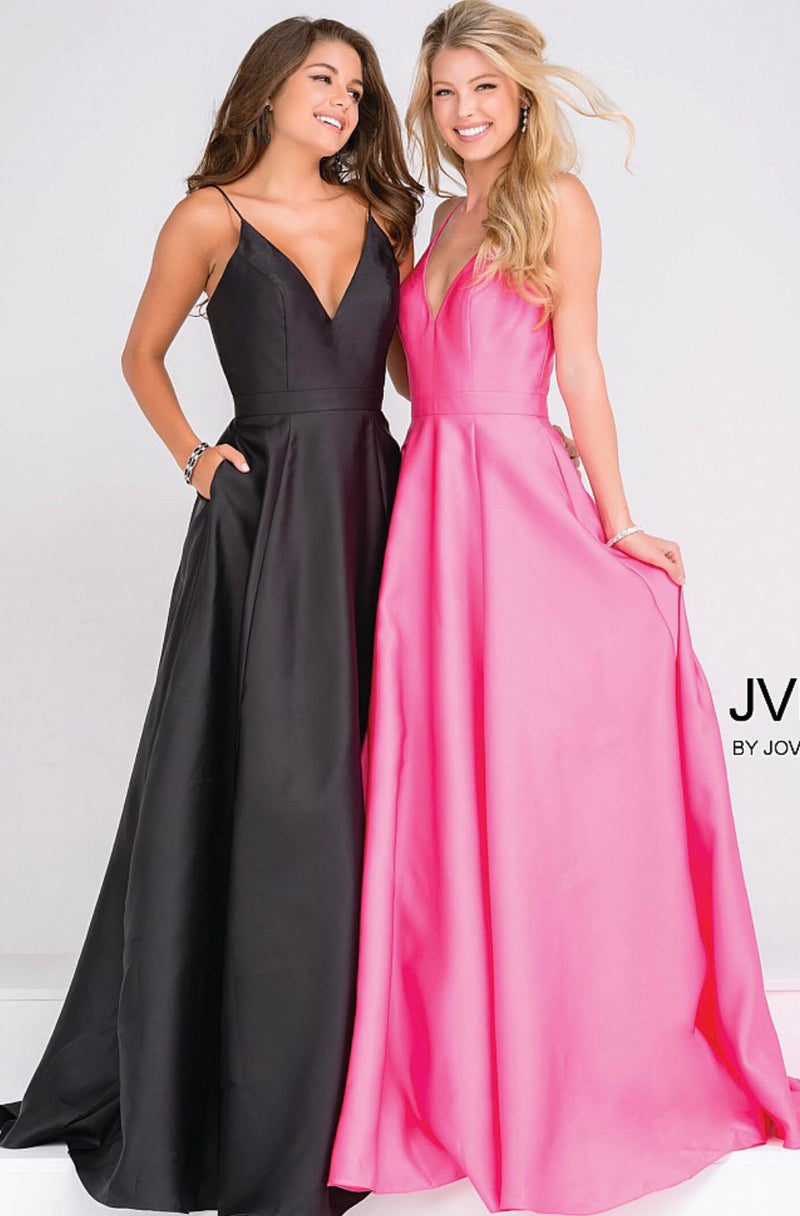 JOVANI JVN48791 Satin Evening Gown - CYC Boutique