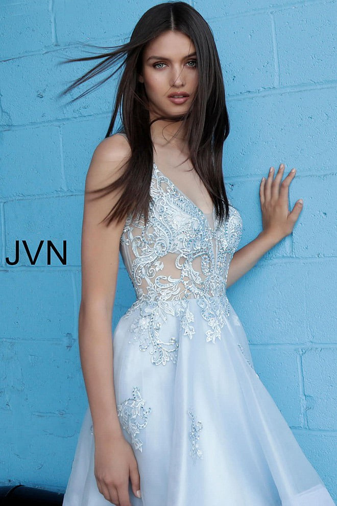JOVANI JVN62715 Embroidered Fit and Flare Dress - CYC Boutique